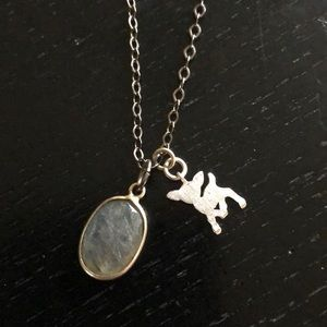 Deer necklace. Dainty and sweet